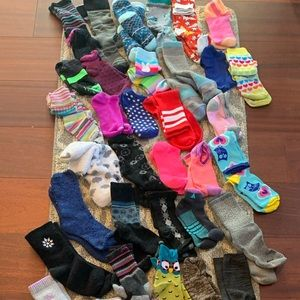 50 PAIR OF SOCKS!!! Sizes 6-9  Multiple brands